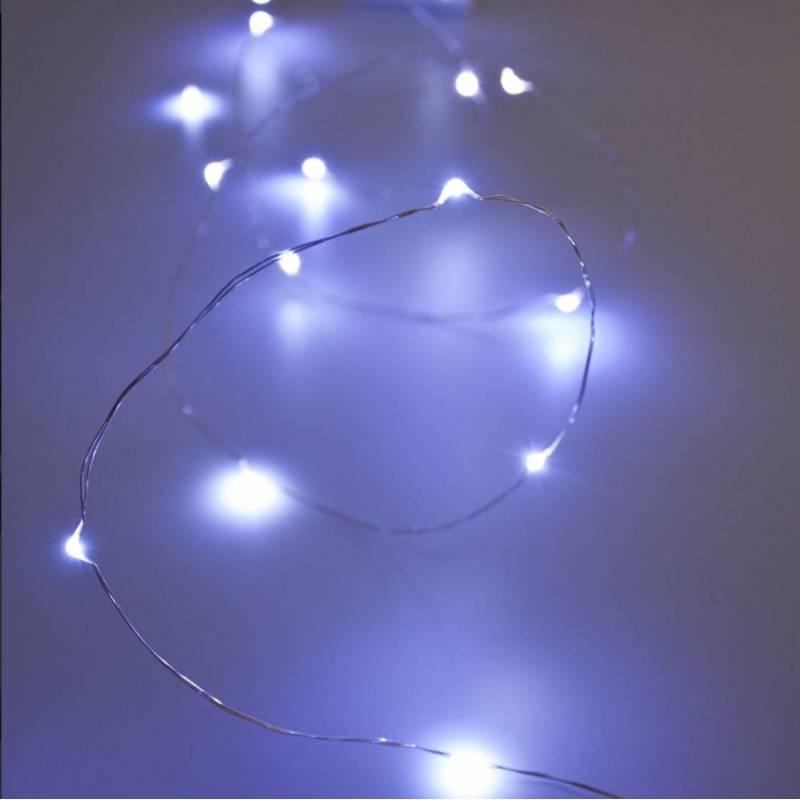 Guirlande lumineuse LED blanc froid maison