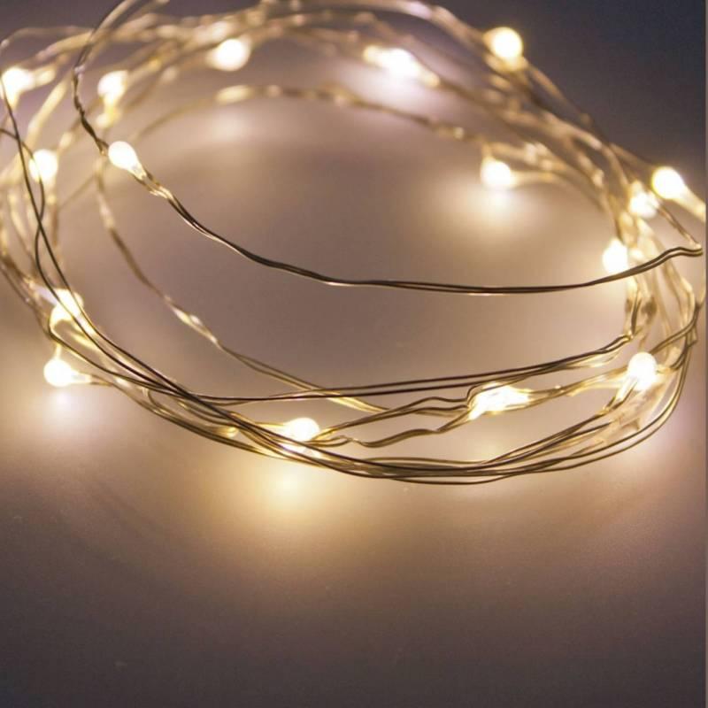 Guirlande lumineuse pile blanc chaud mariage baptême fêtes