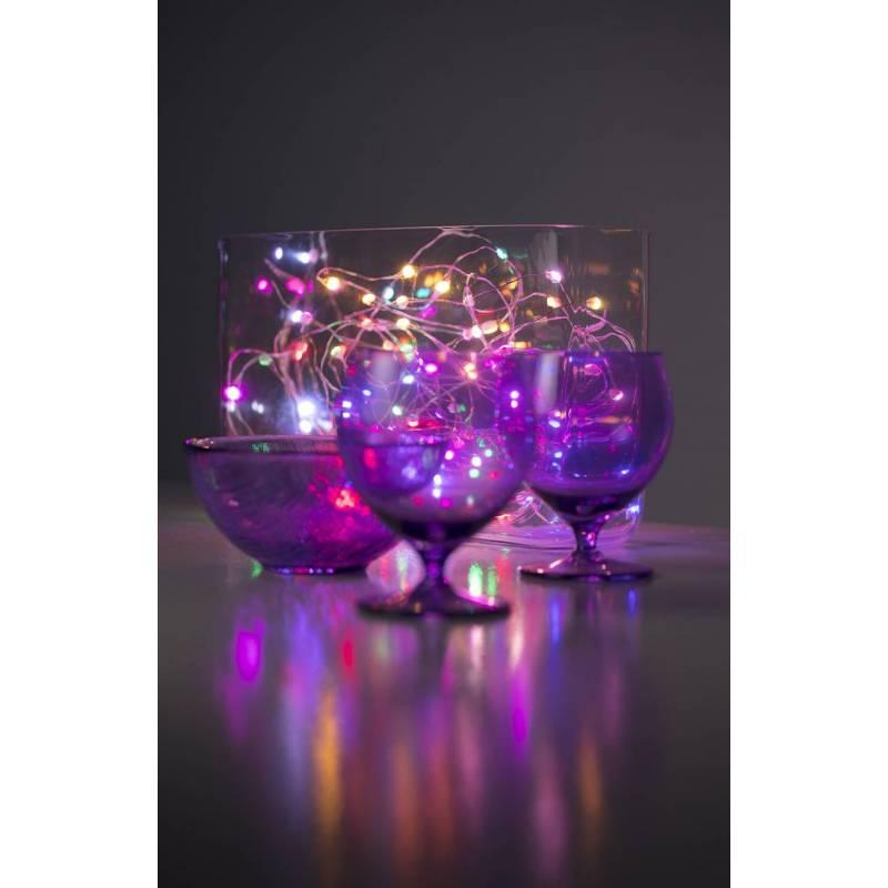 Guirlande lumineuse piles 2M 20 Micro LED multicolore intérieur nouvel an vase