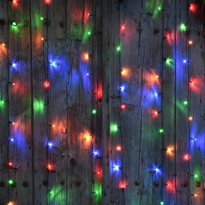 guirlande led solaire stalactite multicolores 16 m