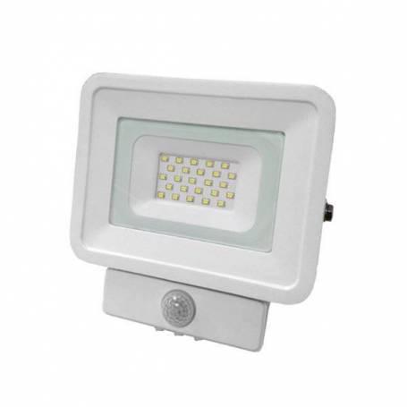 Projecteur led 10W détecteur de mouvement blanc naturel structure blanche