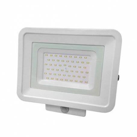 Projecteur LED 50W détecteur de mouvement professionnel blanc