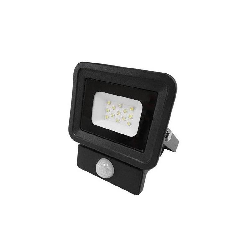 Projecteur led noir avec detecteur de mouvement 10W blanc naturel