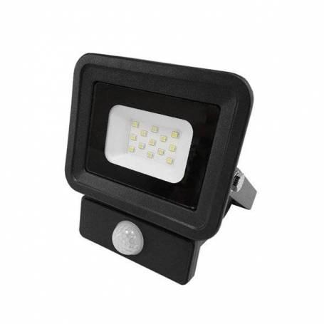 Projecteur led noir detecteur de mouvement 20W blanc neutre