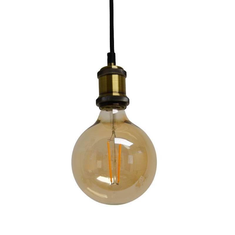 Ampoule led ronde  à filament E27 ambrée g125