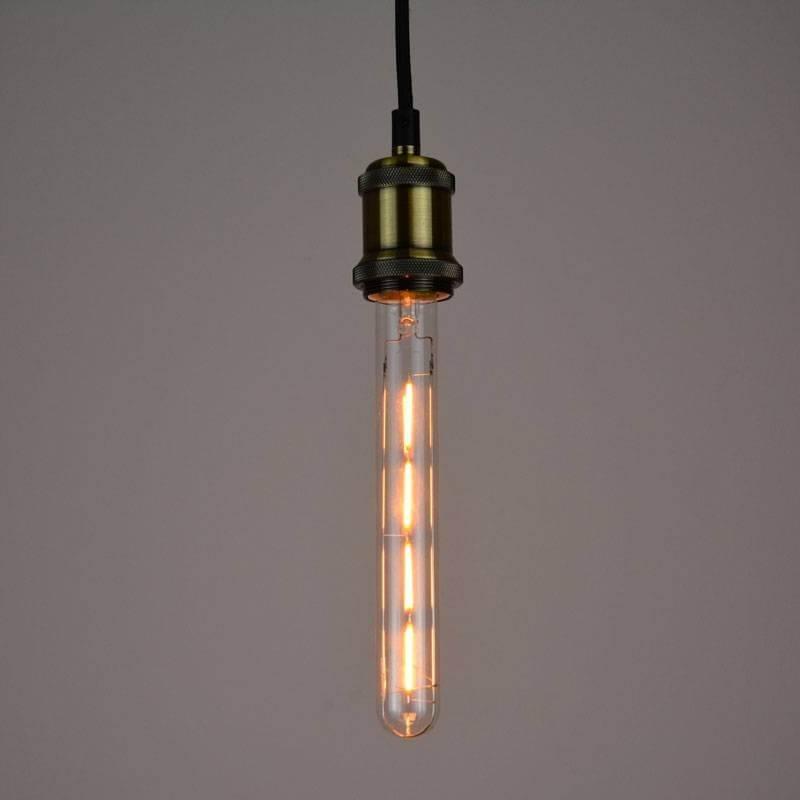 Ampoule led E27 à filament  tube blanc chaud