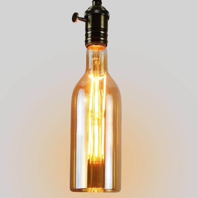 ampoule vintage bouteille led filament e27. Black Bedroom Furniture Sets. Home Design Ideas