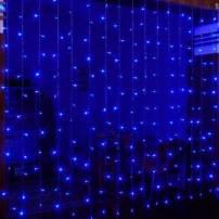 Rideaux lumineux led Bleu 2X2 mètres