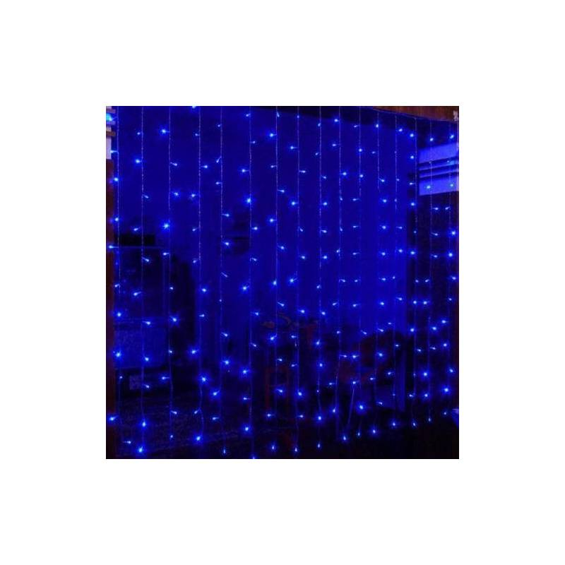 rideaux lumineux led bleu 2x2 m tres. Black Bedroom Furniture Sets. Home Design Ideas