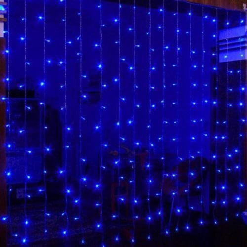 rideaux lumineux led bleu 2x2 m tres pro illumination. Black Bedroom Furniture Sets. Home Design Ideas