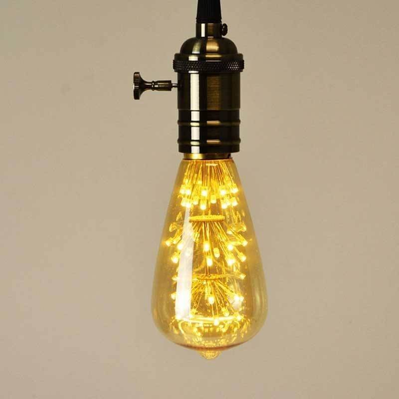Ampoule led point lumineux poire Edison E27 ST64