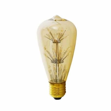 Ampoule déco led filament E27 firework gold