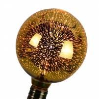 Ampoule led déco effet explosion d'étoile E27 OR doré