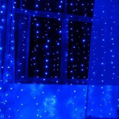 Rideaux lumineux led Bleu 2X2 mètres extérieur
