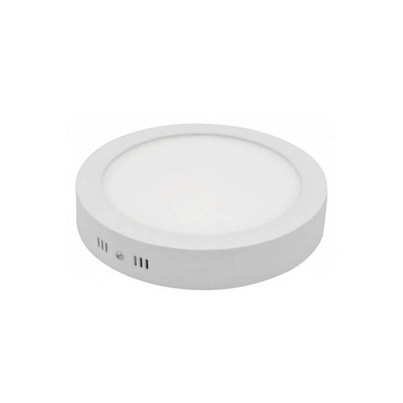 Spot en saillie rond 12 cm blanc chaud 2800K 6 W professionnel