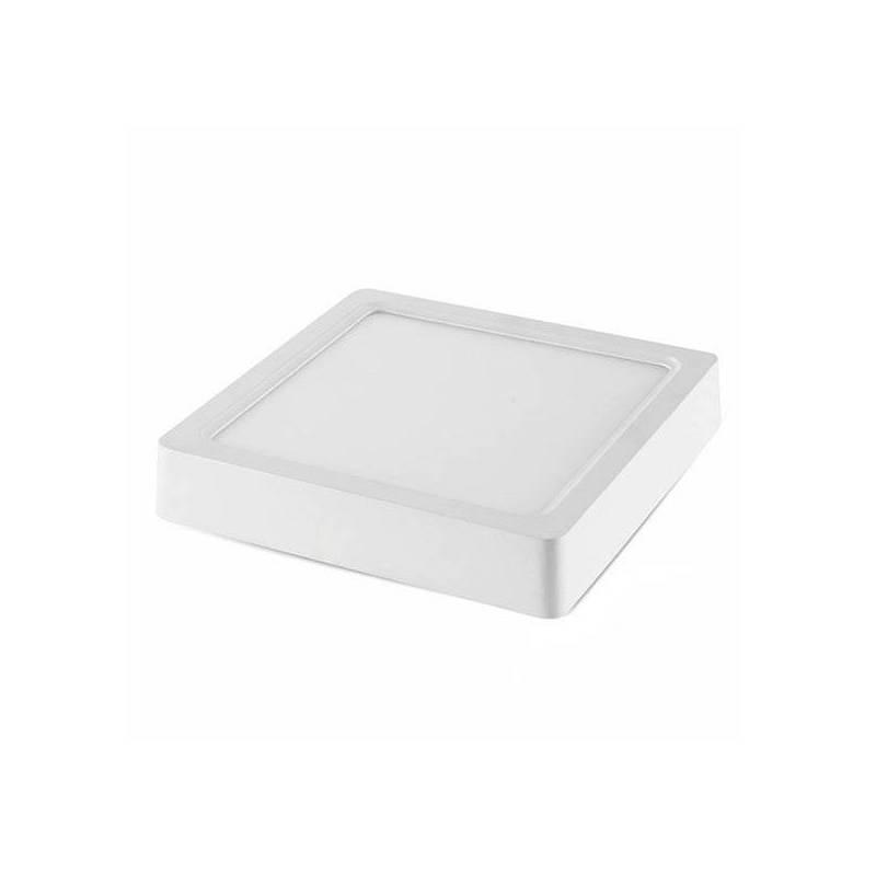Plafonnier led carré 30x 30 cm blanc chaud 2800K 24 W professionnel