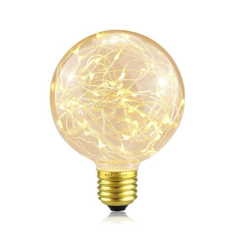 Ampoule led vintage filament points lumineux