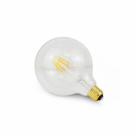 Ampoule led filaments E27 G125 8w verre clair