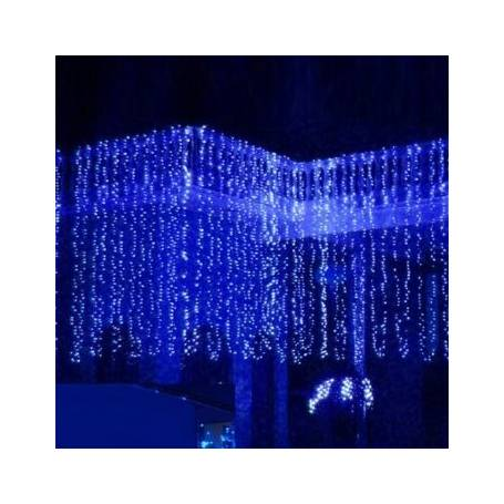 Rideaux lumineux led Bleu 2X2 mètres décoration noel
