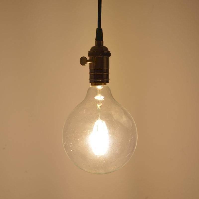 Ampoule led filaments E27 sphere 125cm 8w verre clair