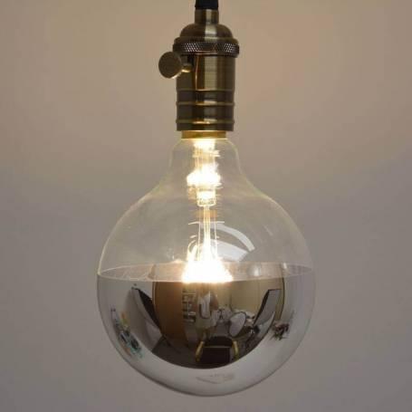 Ampoule led a filament E27 miroir métal 6W