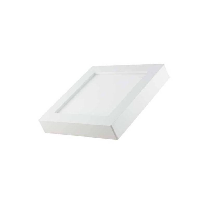 Spot en saillie led carré 12x12 cm blanc réglable 3000-6000k 6W professionnel