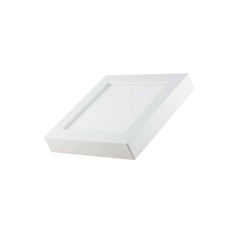 Spot en saillie led carré 17x17 cm blanc réglable 3000-6000k 12W professionnel