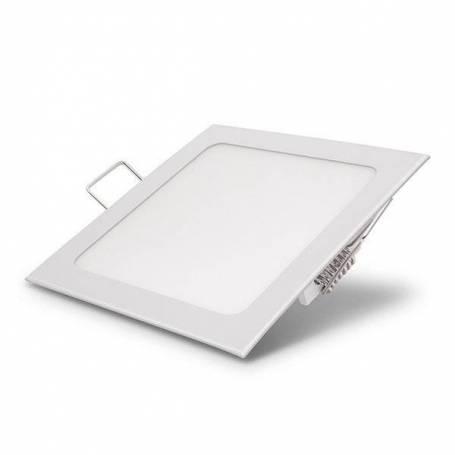 Spot downlight led carre 12x12 cm blanc froid 6000k 6W professionnel