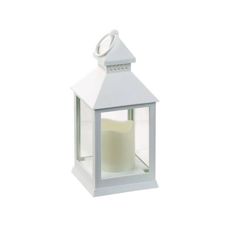 lanterne led a piles blanche