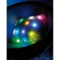 Coussin lumineux blanc led multicolores