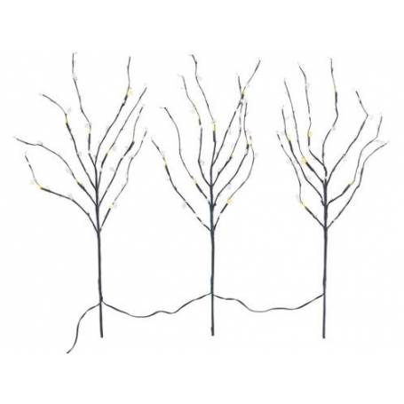 Lot de 3 branchages 24 leds