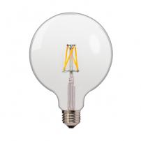 Ampoule LED G125 mm 6,5W E27 2700k filament blanc chaud professionnelle