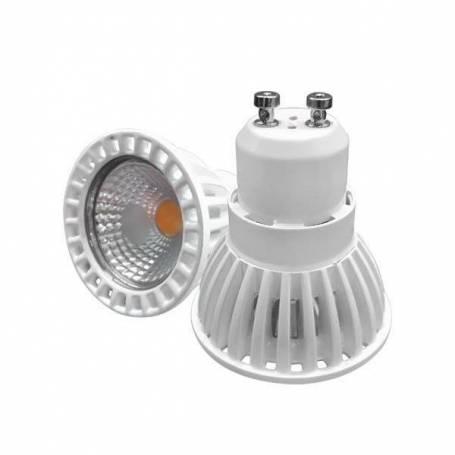 Ampoule LED GU10 6W blanche 50 degrés COB 4500k dimmable blanc neutre