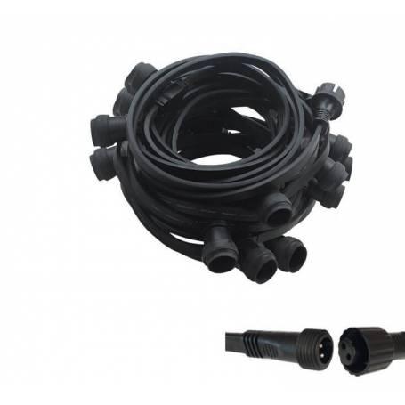 Guirlande guinguette connectable 20 M 40 douilles