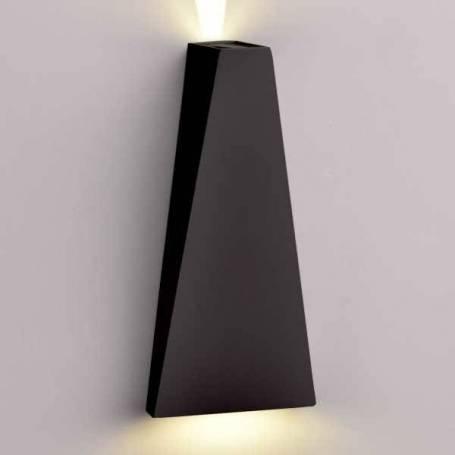 Applique exterieure noir design Blanc neutre 4000k IP54 6W professionnel