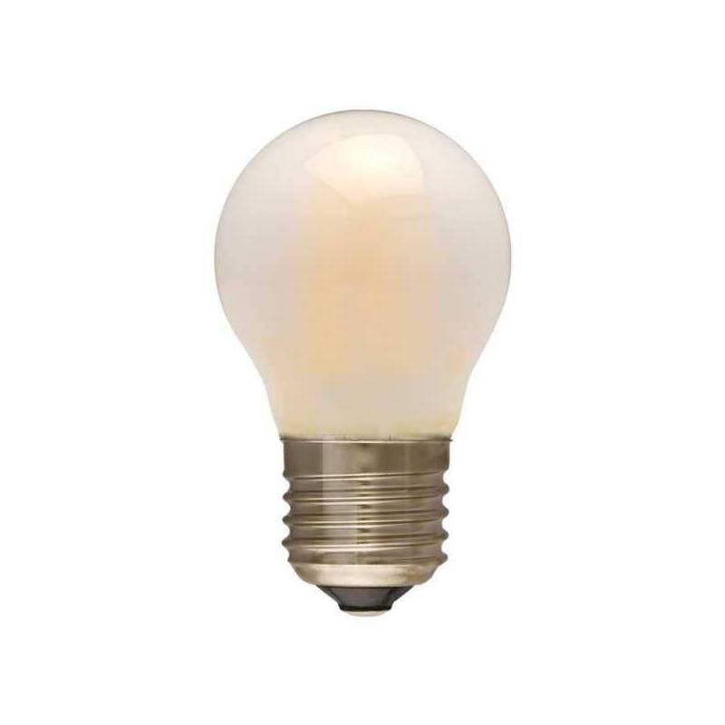 Ampoule LED dimmable Givré filament Guinguette 4W E27 blanc chaud 2200k