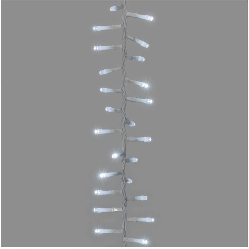 Cascade lumineuse LED 3 grappes blanc froid professionnel