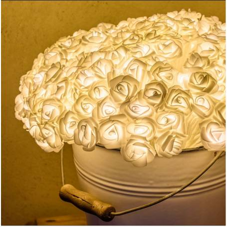 Bouquet 192 Roses blanches lumineuses 40CM professionnel