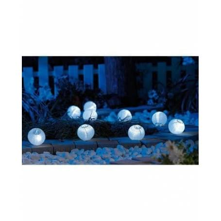 Guirlande solaire 9 lampions led