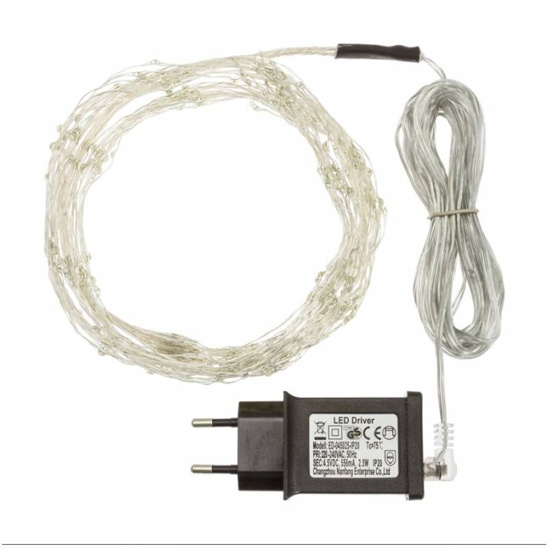 Cascade lumineuse LED 1M 15 branches 300 Micro LED blanc froid professionnel