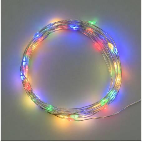 Guirlande piles extérieur 3M 30 micro led multicolore clignotement professionnel