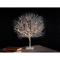 Arbre décoratif led blanc 50 cm