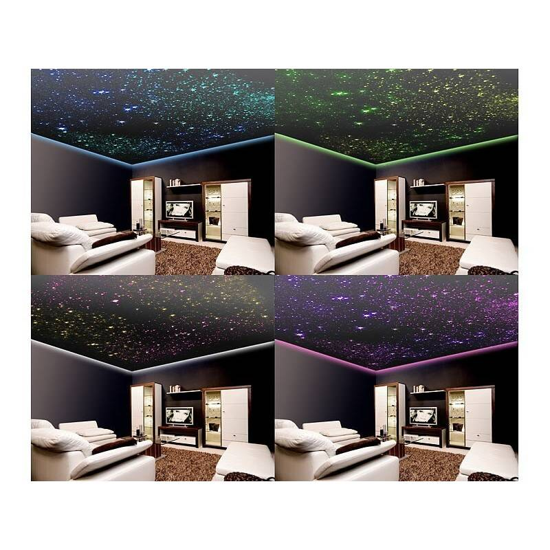 ciel toile led fibre optique 300 tiges pro illumination. Black Bedroom Furniture Sets. Home Design Ideas