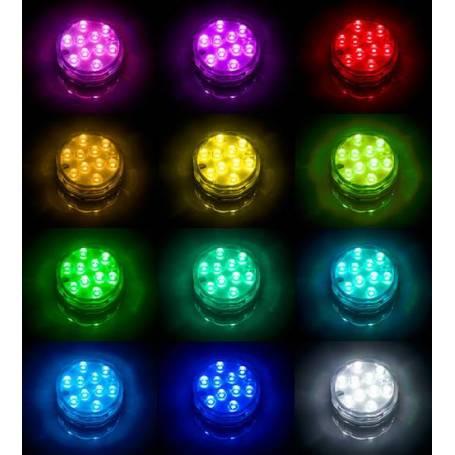 Base led submersible télécommande changement de couleur professionnel