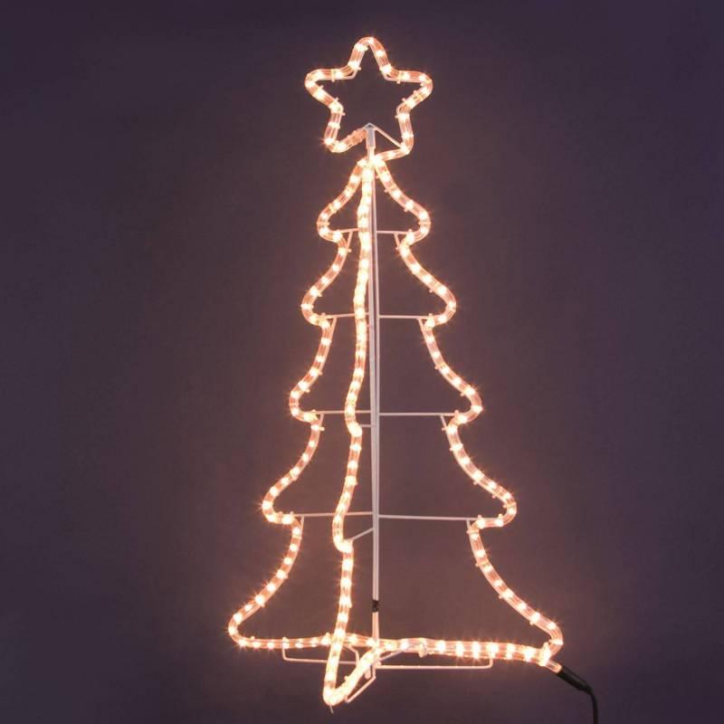 Sapin de Noel tube lumineux 180 ampoules blanc chaud