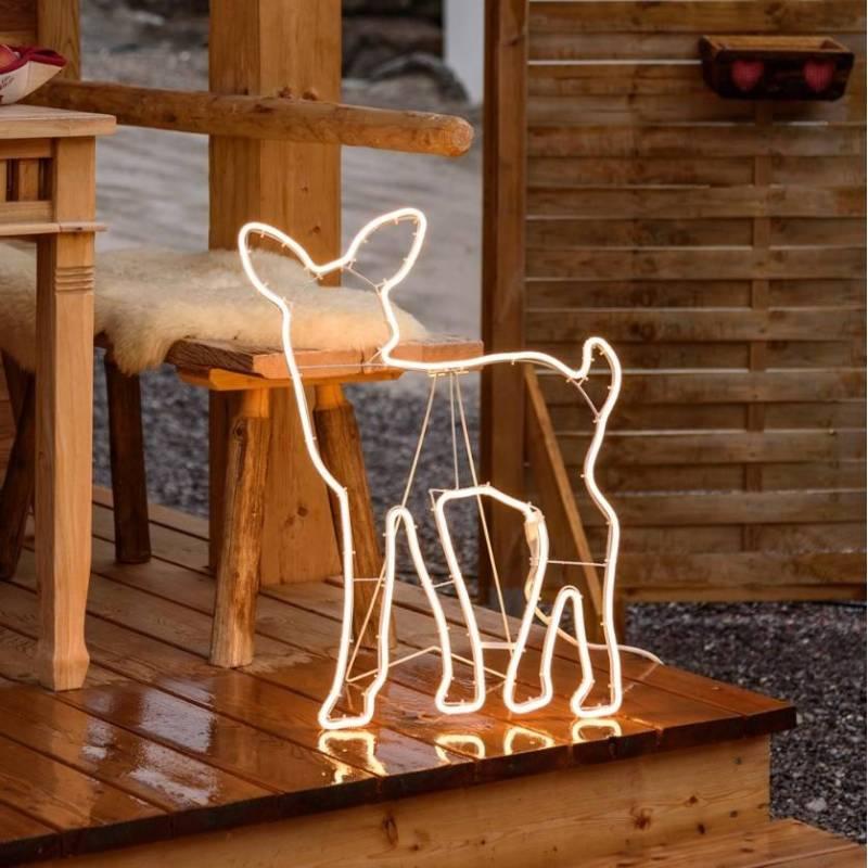 Faon lumineux tube néon 480 led blanc chaud extérieur 230V professionnel