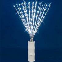 Branche ARGENT 100 cm 144 LED avec clignotement professionnel