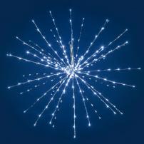 Boule lumineuse à branche 1M 280 led blanc froid flash argentée professionnel