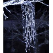 Branche lumineuse tombante 95CM 240 led blanc froid flash argentée professionnel