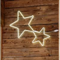 Double étoiles lumineuses 360 LED blanc froid tube néon professionnel